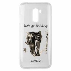 Чехол для Xiaomi Pocophone F1 Let's go fishing  kittens