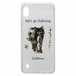 Чехол для Samsung A10 Let's go fishing  kittens