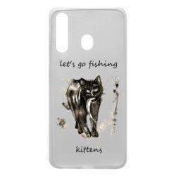 Чехол для Samsung A60 Let's go fishing  kittens