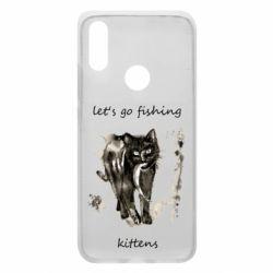 Чехол для Xiaomi Redmi 7 Let's go fishing  kittens