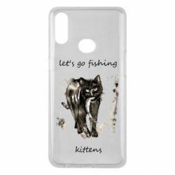 Чехол для Samsung A10s Let's go fishing  kittens