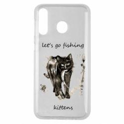Чехол для Samsung M30 Let's go fishing  kittens