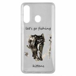 Чехол для Samsung M40 Let's go fishing  kittens