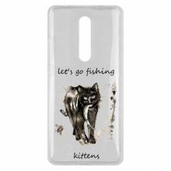 Чехол для Xiaomi Mi9T Let's go fishing  kittens