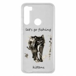 Чехол для Xiaomi Redmi Note 8 Let's go fishing  kittens