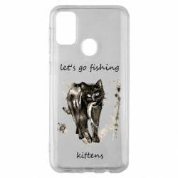 Чехол для Samsung M30s Let's go fishing  kittens