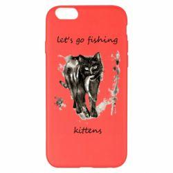 Чехол для iPhone 6 Plus/6S Plus Let's go fishing  kittens