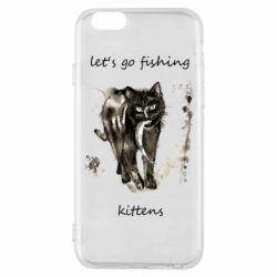 Чехол для iPhone 6/6S Let's go fishing  kittens