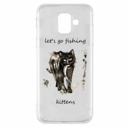 Чехол для Samsung A6 2018 Let's go fishing  kittens