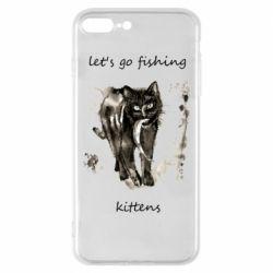 Чехол для iPhone 8 Plus Let's go fishing  kittens