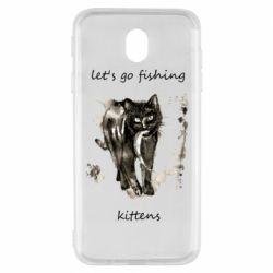 Чехол для Samsung J7 2017 Let's go fishing  kittens