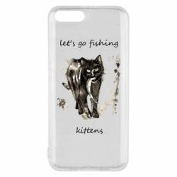 Чехол для Xiaomi Mi6 Let's go fishing  kittens