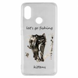 Чехол для Xiaomi Mi8 Let's go fishing  kittens