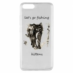 Чехол для Xiaomi Mi Note 3 Let's go fishing  kittens