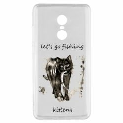 Чехол для Xiaomi Redmi Note 4x Let's go fishing  kittens