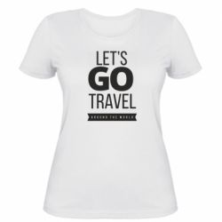 Жіноча футболка Let's go travel around the world