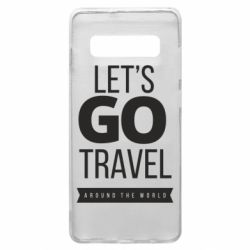 Чохол для Samsung S10+ Let's go travel around the world
