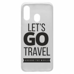 Чохол для Samsung A40 Let's go travel around the world