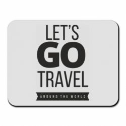 Килимок для миші Let's go travel around the world