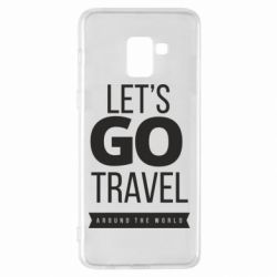 Чохол для Samsung A8+ 2018 Let's go travel around the world