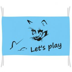 Прапор Let's play cat and mouse