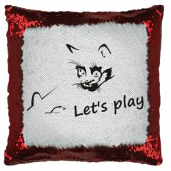 Подушка-хамелеон Let's play cat and mouse