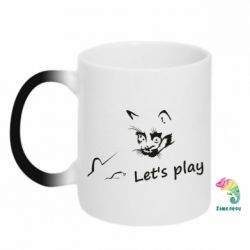 Кружка-хамелеон Let's play cat and mouse