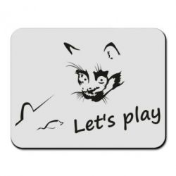 Килимок для миші Let's play cat and mouse