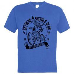 Чоловіча футболка з V-подібним вирізом Let's Ride Bike