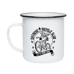 Кружка емальована Let's Ride Bike