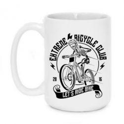Кружка 420ml Let's Ride Bike