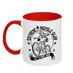 Кружка двоколірна 320ml Let's Ride Bike