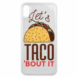 Чехол для iPhone Xs Max Let's taco bout it