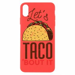 Чехол для iPhone X/Xs Let's taco bout it