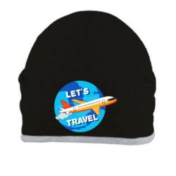 Шапка Let's travel and plane