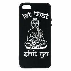 Йога, Чехол для iPhone5/5S/SE Let that shit go, FatLine  - купить со скидкой