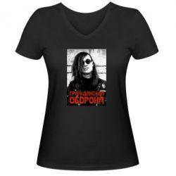 Жіноча футболка з V-подібним вирізом Лєтов