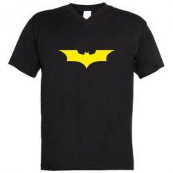 Мужская футболка  с V-образным вырезом Летучая мышь - FatLine