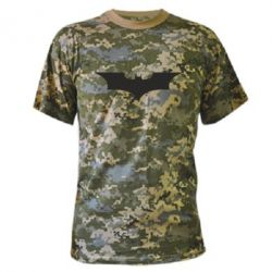 Камуфляжна футболка кажан - FatLine