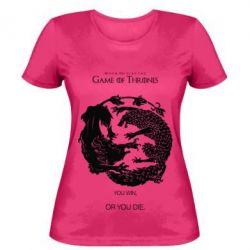 Женская футболка Лев и волк