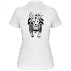 Женская футболка поло Лев Инди
