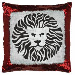 Подушка-хамелеон лев