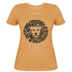 Женская футболка лев - FatLine