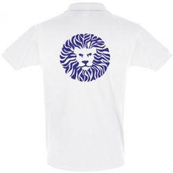 Мужская футболка поло лев