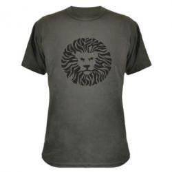 Камуфляжная футболка лев