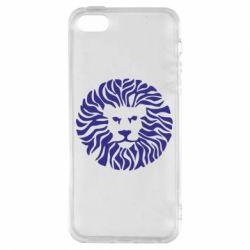 Чехол для iPhone5/5S/SE лев - FatLine