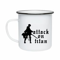 Кружка емальована Levi from Attack on Titan