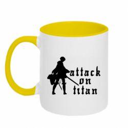 Кружка двоколірна 320ml Levi from Attack on Titan