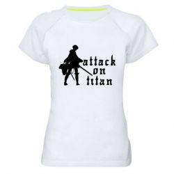 Жіноча спортивна футболка Levi from Attack on Titan