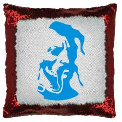Подушка-хамелеон Лице козака